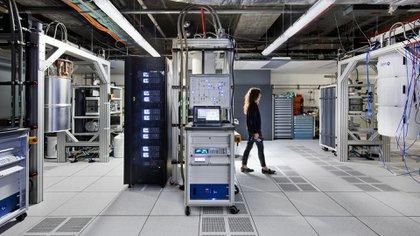 el laboratorio de computación cuántica que inauguró IBM a comienzos de octubre.