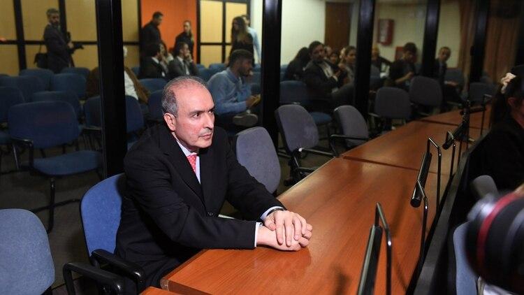 José López en la lectura del fallo en el que fue condenado (Maxi Luna)