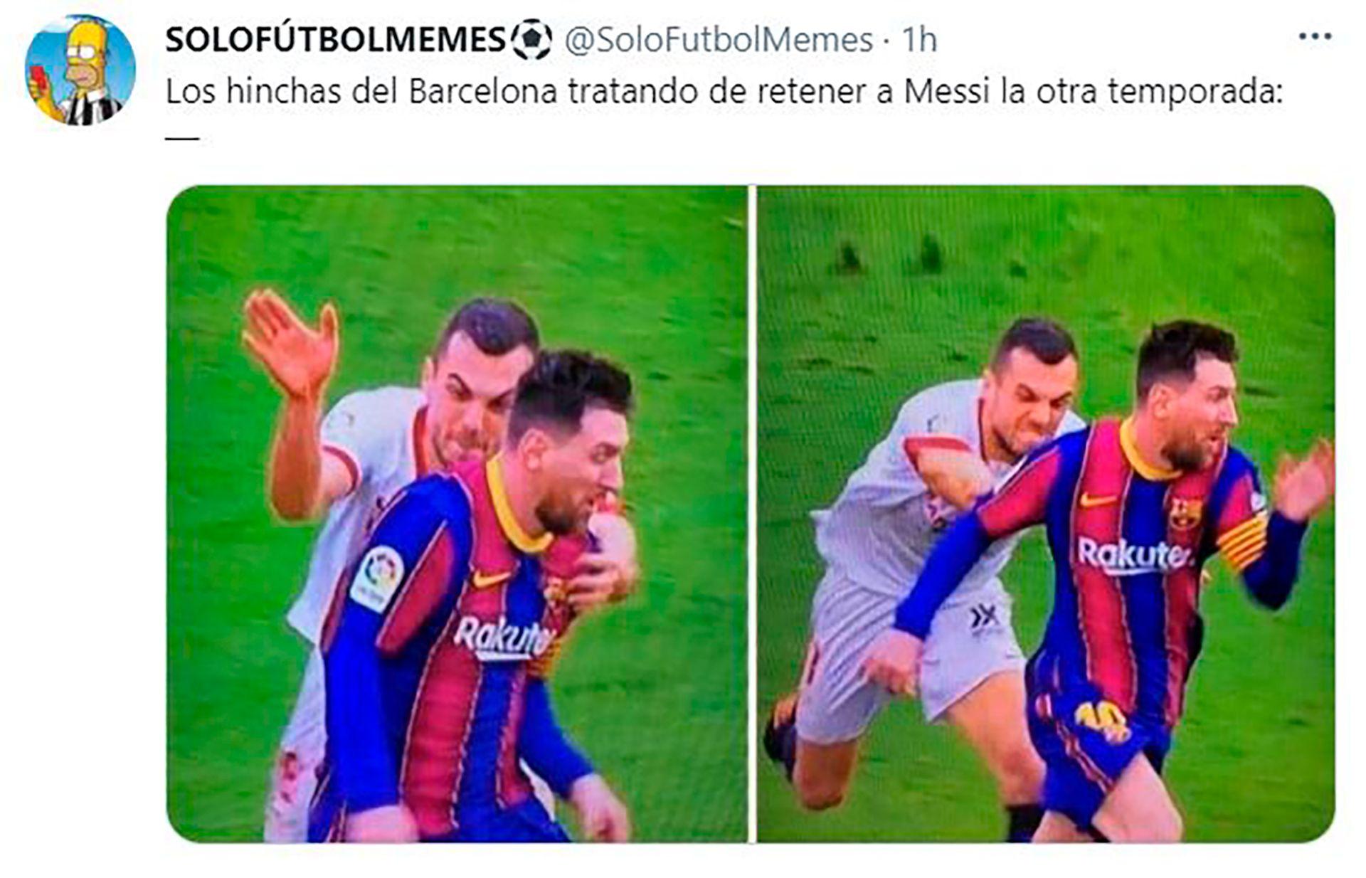 Memes Barcelona Messi Sevilla