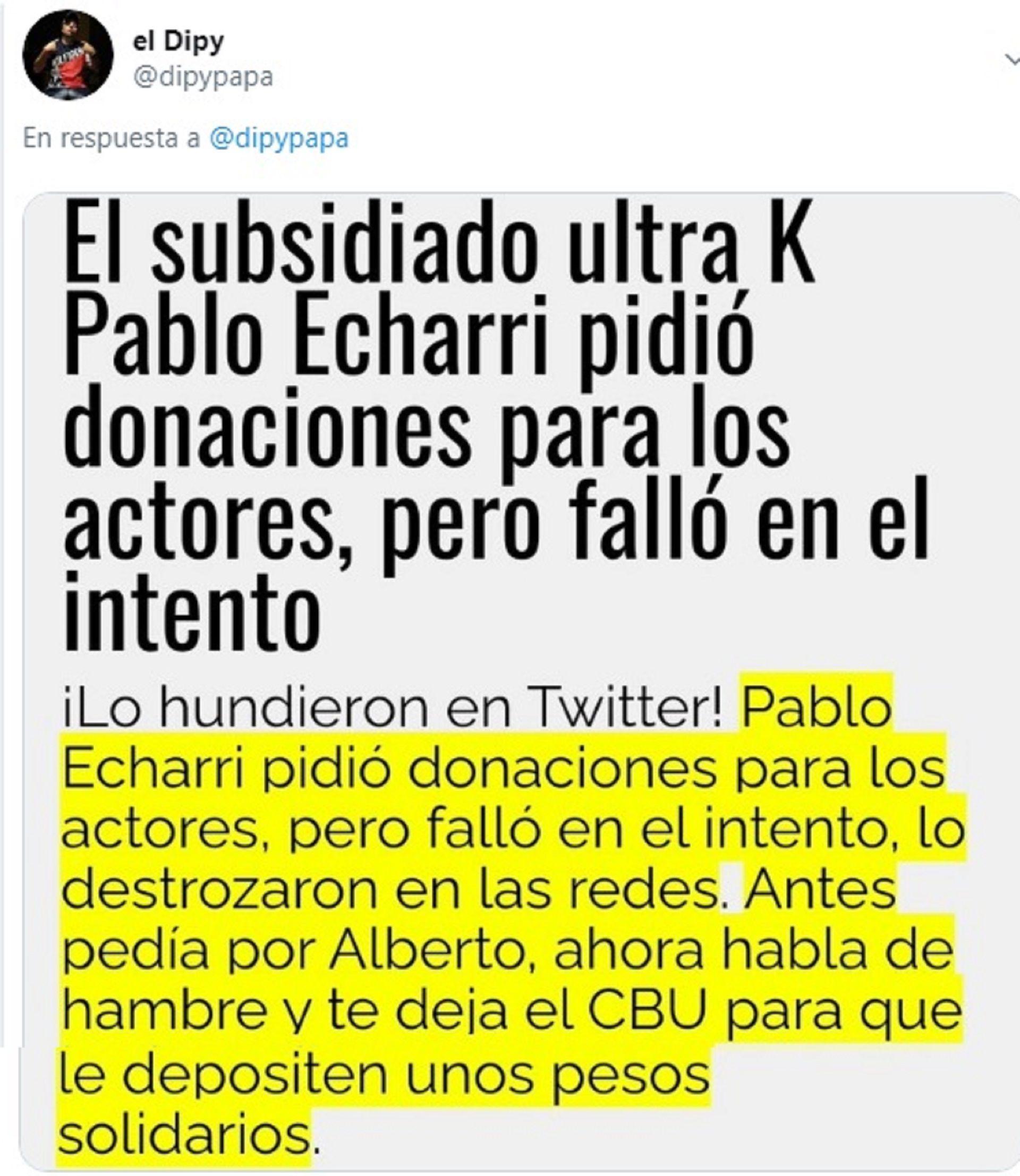 el dipy pablo echarri twitter