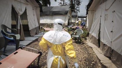 Se sabe que el ébola se transmite de humano a humano mediante el contacto directo, los fluidos, los cadáveres y los materiales contaminados de una persona contagiada  MSF/CARL THEUNIS