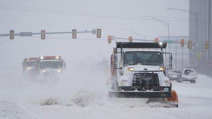 Otra imagen de Oklahoma city, tapizada de nieve y con un frío inédito.