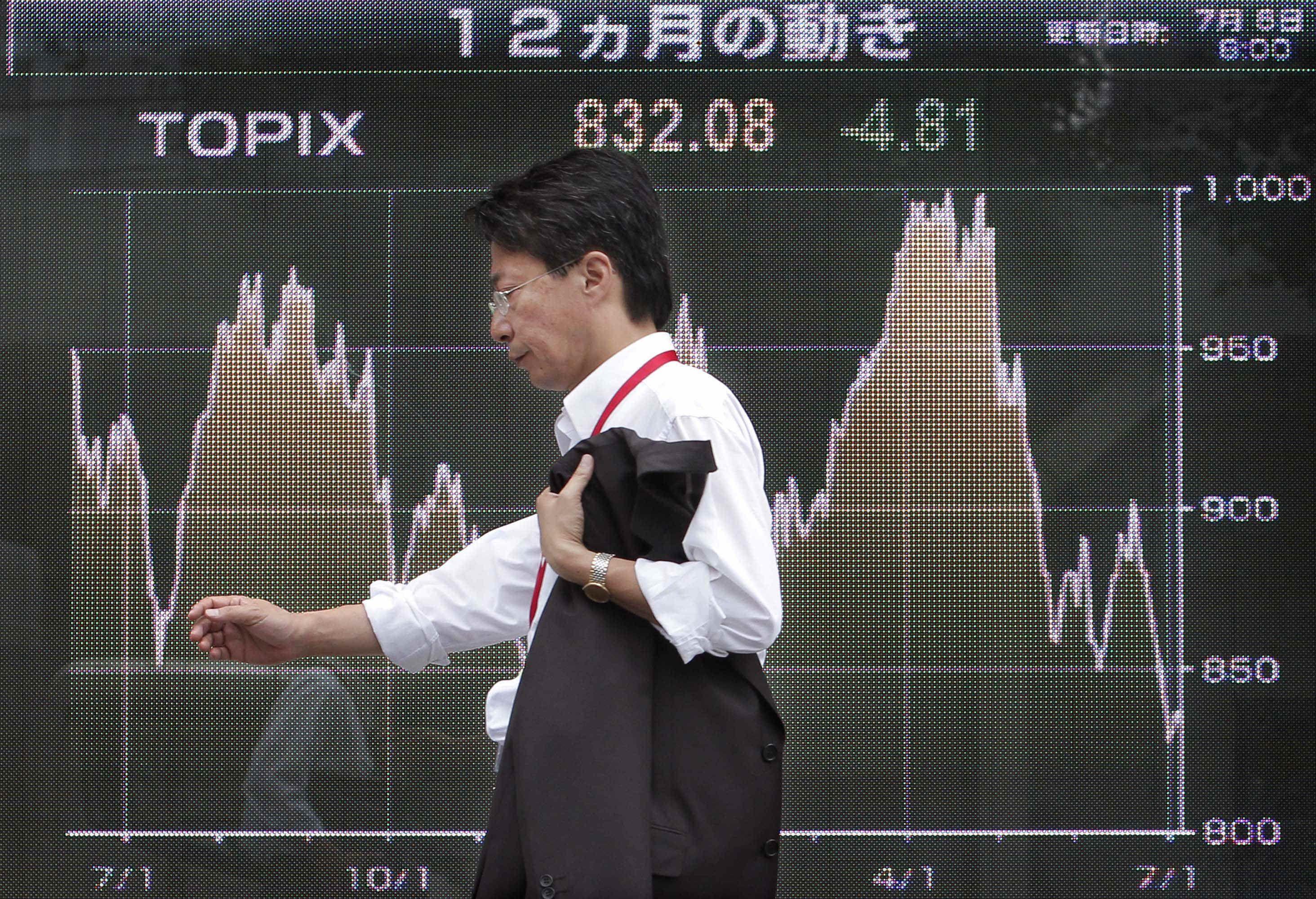 La floja demanda global y la guerra comercial entre China y Estados Unidos golpearon las exportaciones, alimentando los temores de una recesión japonesa, (AP)