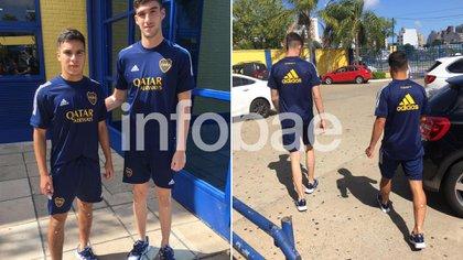 Los juveniles lucieron la versión azul de la ropa de entrenamiento
