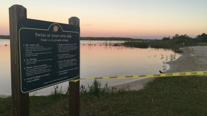 El área en el que Juliana y sus familiares nadaban estaba restringida por las autoridades. Ahora fue clausurada