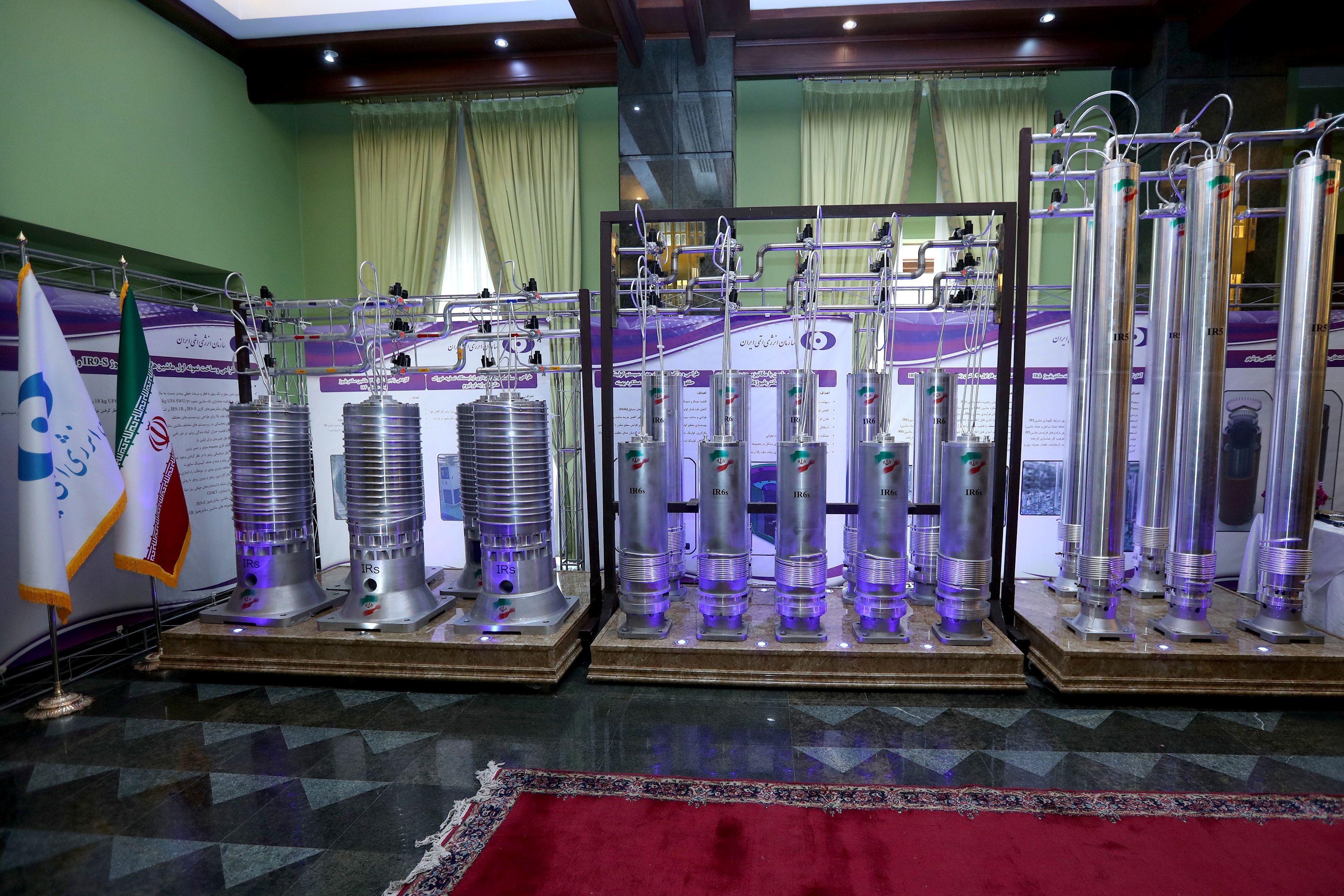 Centrífugas de nueva generación mostradas por el régimen iraní (Reuters)
