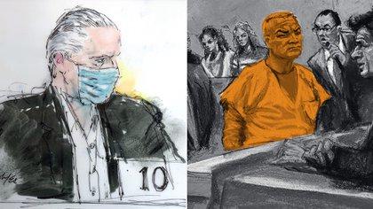 Salvador Cienfuegos y Genaro García Luna, los dos exsecretarios de Estado mexicanos presos en Estados Unidos por su presunta protección al narcotráfico ( Ilustración: AP / Especial)