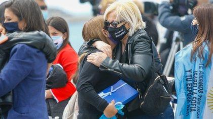 El dolor de los familiares de los 44 tripulantes del submarino ARA San Juan a tres años de su tragedia. (Christian Heit)