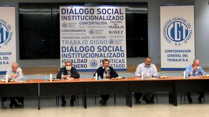 José Luis Lingeri, Carlos Acuña, Gerardo Martínez, Héctor Daer y Andrés Rodríguez