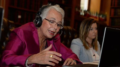 Olga Sánchez Cordero señaló que la actualización del semáforo epidemiológico se realizará cada dos semanas (Foto: Twitter@M_OlgaSCordero)