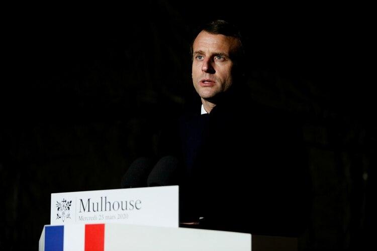 El presidente francés, Emmanuel Macron (Cugnot Mathieu/Pool vía REUTERS)
