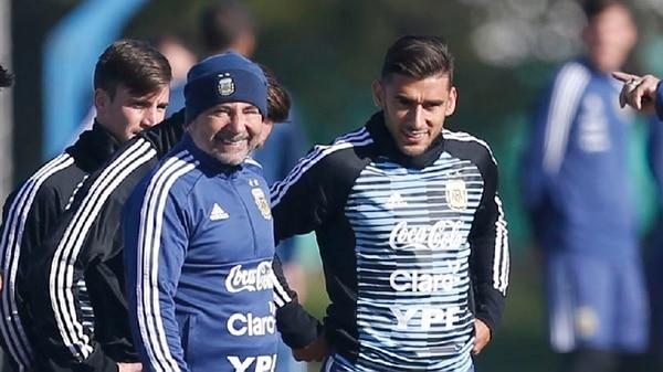 Eduardo Salvio sería el lateral derecho ante Islandia en lugar de Gabriel Mercado (Nicolás Aboaf)