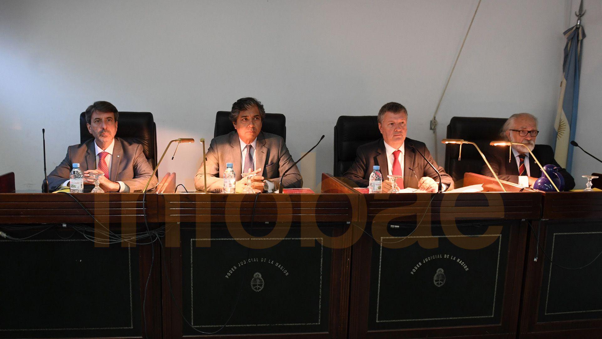 El Tribunal Oral Federal 6 que juzga a Jaime por enriquecimiento ilícito. (Maximiliano Luna)