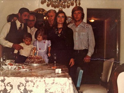 La familia en un cumpleaños, tiempo antes de la guerra