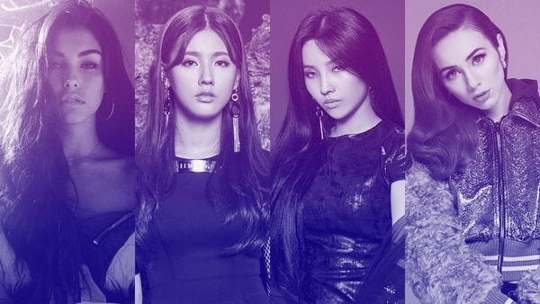 Las voces humanas detrás de este grupo musical virtual son las cantantes Madison Beer (Evelynn), Miyeon (Ahri) y Soyeon (Akali) de la banda Coreana (G)I-DLE, y Jaira Burns (Kaiâ??Sa).