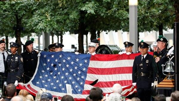 Ceremonia en el Memorial y Museo del 11S en Nueva York (Reuters)