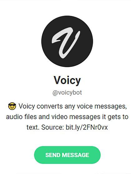 Bot Voicy, para Telegram