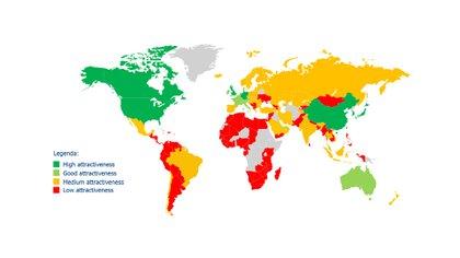 Indice de Atracción Global 2020, ranking de sostenibilidad (Fuente: The European House-Ambrosetti, elaboración de datos 2020)