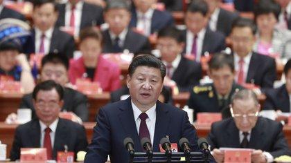 Xi jinping en un congreso del partido comunista chino