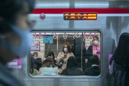 Un vagón de metro solo para mujeres en Osaka, Japón, el 15 de febrero de 2021.  (Hiroko Masuike/The New York Times)
