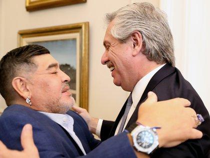 La intimidad del encuentro entre Maradona y Alberto Fernández