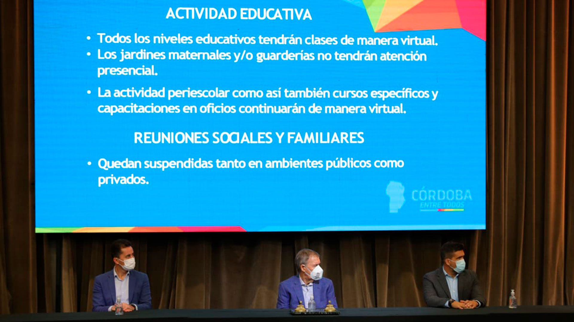 Juan Schiaretti - Gobernador de Córdoba - nuevas restricciones