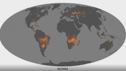 El número de incendios registrados en Brasil han roto la marca en más de siete años (Foto: NASA)