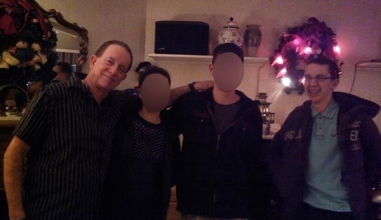 Crusius en una reunión familiar (Foto: Facebook)