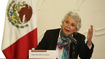 """La mujer más poderosa en el gabinete de AMLO señaló que el repunte de feminicidios es """"moderado"""" en comparación con otros años (Foto: Twitter @M_OlgaSCordero)"""