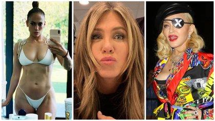 Jennifer Lopez, Jennifer Aniston y Madonna no escatiman en gastos para conservar su apariencia  (Foto: @Jlo/Instagram - @JenniferAniston/Instagram - Grosby)