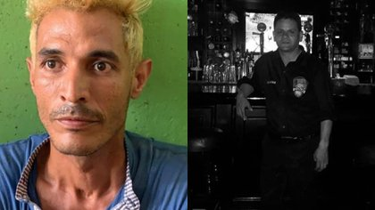 En la izquierda alias 'Chómpiras'. En la derecha Oswaldo Muñoz.