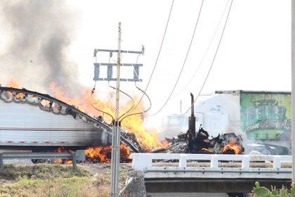 Disturbios provocados por el Cártel de Santa Rosa de Lima  (Foto: DIEGO COSTA/CUARTOSCURO)