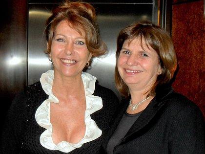 """Junto con Patricia Bullrich, una de sus entrevistadas en """"Mujeres de recursos"""", su programa actual"""