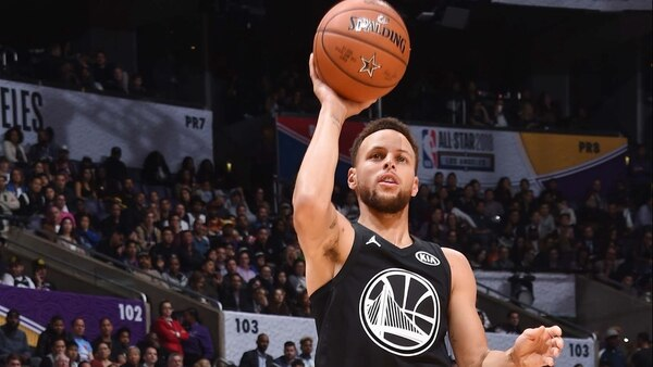Stephen Curry en All Star Game NBA 2018 (Crédito: AFP)
