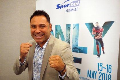 El boxeador Oscar de la Hoya. EFE/Mar Vila/Archivo