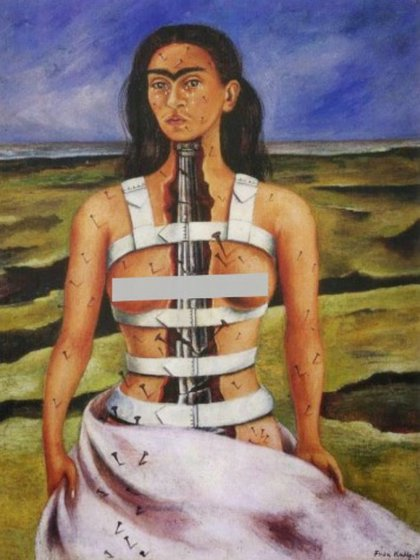 La columna rota, Frida Kahlo, 1944 (Foto: especial)