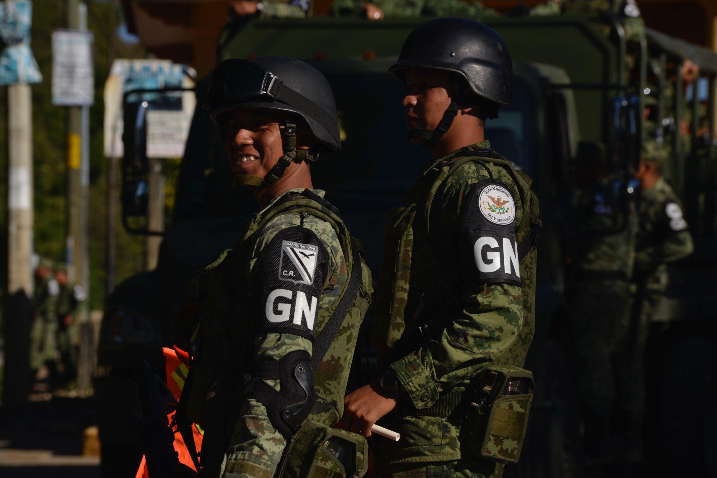 Elementos de la Guardia Nacional, mantienen un operativo de resguardo (Foto: Cuartoscuro)