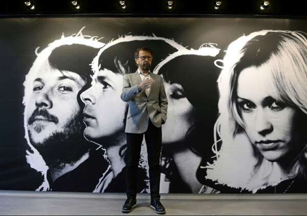 Bjorn Kristian Ulvaeus, uno de los miembros de ABBA, en el museo dedicado al grupo sueco en Estocolmo, el 6 de mayo de 2013 (AFP – JONATHAN NACKSTRAND)