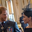 Britain's Prince Harry and Meghan, Duchess of Sussex attend a reception to mark the centenary of the RAF at Buckingham Palace, in London, Britain July 10, 2018. Chris J Ratcliffe/Pool via Reuters