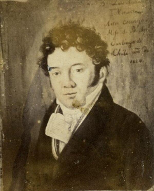 Retrato de Luis Ambrosio Morante pintado en Chile por el miniaturista suizo Henri Jenny en 1824
