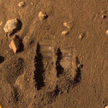 A footprint on Mars