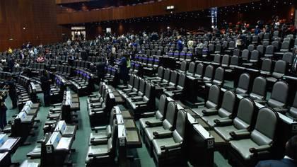 La ausencia de los legisladores panistas se notó en el recinto de San Lázaro (Foto: Cuartoscuro)