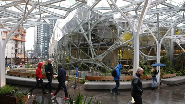 "Amazon inauguró ""La Esfera"". AFP JASON REDMOND"
