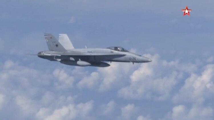 Rusia informó que interceptó el caza español por acercarse al avión donde viajaba el ministro de Defensa de Putin