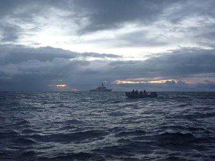 La incautación de este jueves se realizó en el marco de un intenso operativo antinarcóticos iniciado en abril por Estados Unidos en el Caribe (USGC/Archivo)