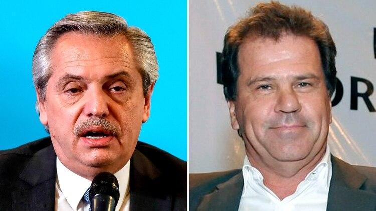 Alberto Fernández y Sergio Nardelli, CEO y heredero de Vicentin