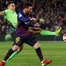 Soccer Football - Copa del Rey - Round of 16 - Second Leg - FC Barcelona v Levante - Camp Nou, Barcelona, Spain - January 17, 2019 Barcelona's Lionel Messi in action REUTERS/Albert Gea