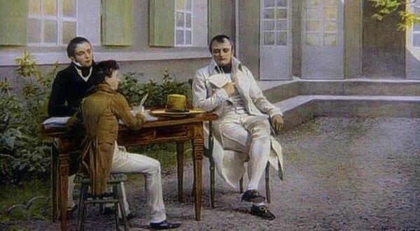 Napoleón en Jamestown, capital de Santa Elena