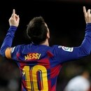 Soccer Football - La Liga Santander - FC Barcelona v Granada - Camp Nou, Barcelona, Spain - January 19, 2020 Barcelona's Lionel Messi celebrates scoring their first goal REUTERS/Albert Gea