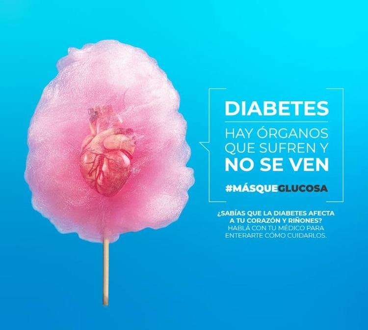 La campaña Más que Glucosa busca concientizar sobre la importancia de la prevención de las complicaciones cardiovasculares y renales de la diabetes